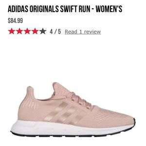 ISO adidas swift run 10 rose gold dust pearl coppe